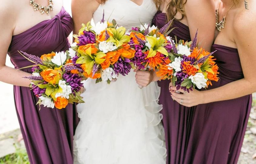 Close up of the bouquets