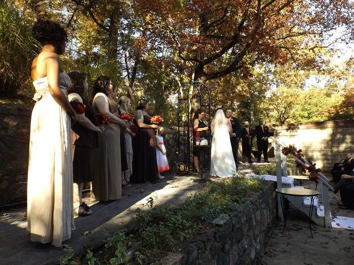Outdoor ceremony in progress