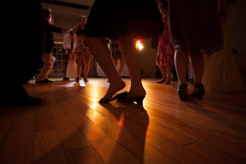 Feet on the dance floor