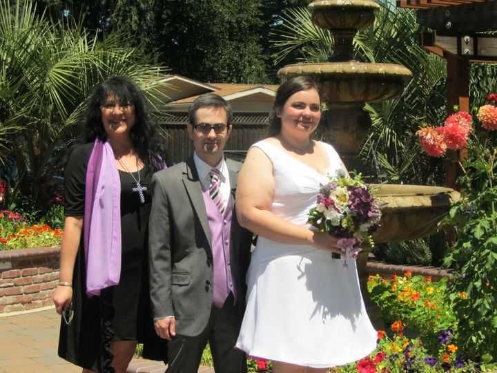 Tmx 1426968344658 Revdesmikebrieana Sacramento wedding officiant