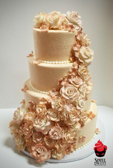 Sinful Sweets Wedding Cake Rochester NY WeddingWire