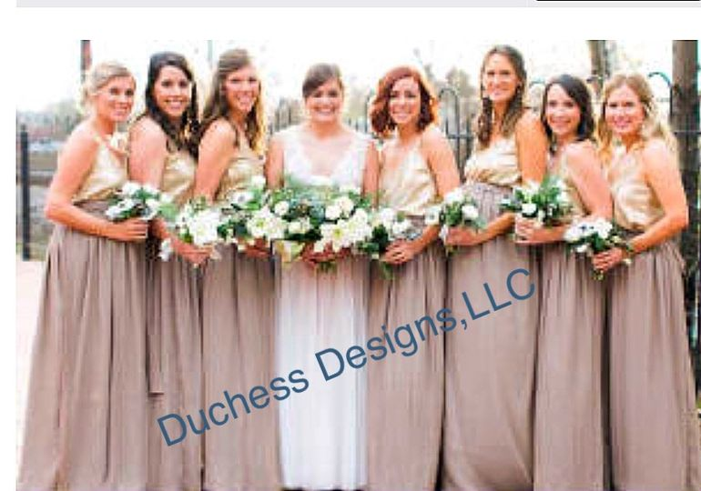 Bridesmaid chiffon skirts