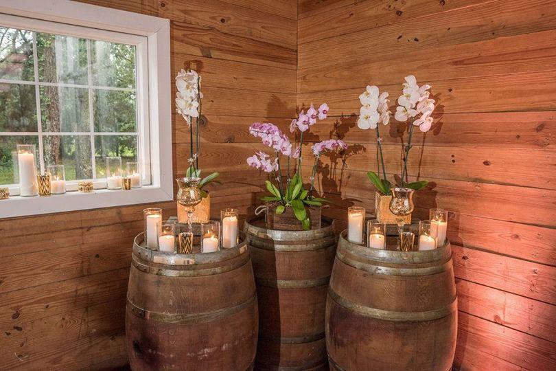 Barrels as decoration