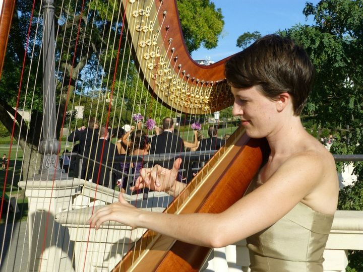 Harp player wedding