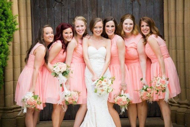 personal bouquet bridemaids