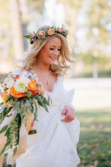 personal bouquet natural cascade