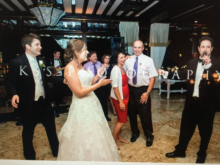 Performing for the newlyweds