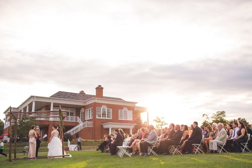 Rolling Road can provide you with a beautiful outdoor ceremony overlooking a view of the golf course...