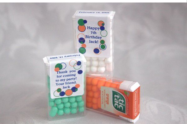 Tic Tac big packs are great for weddings as well as bridal showers.