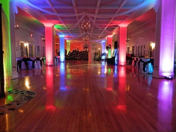 Dance floor with uplighting