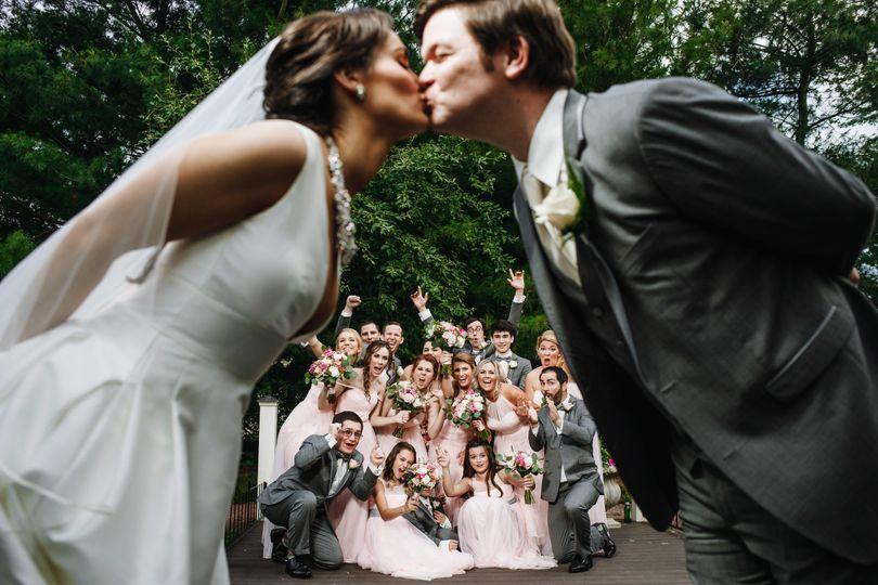 Couples's kiss