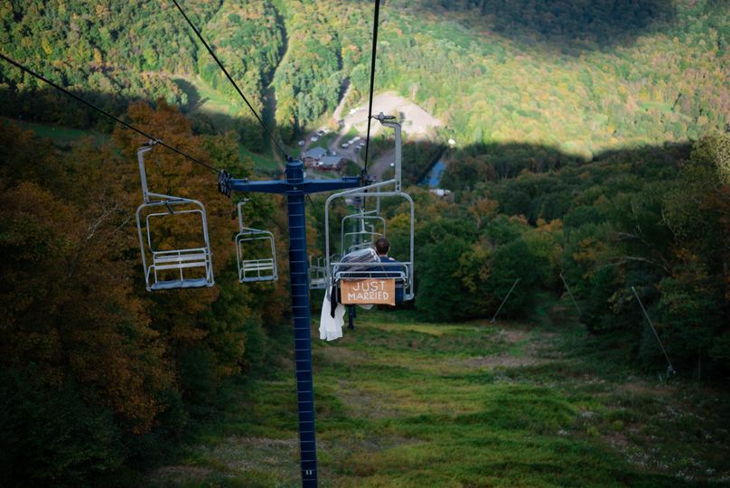 Romantic chairlift ride