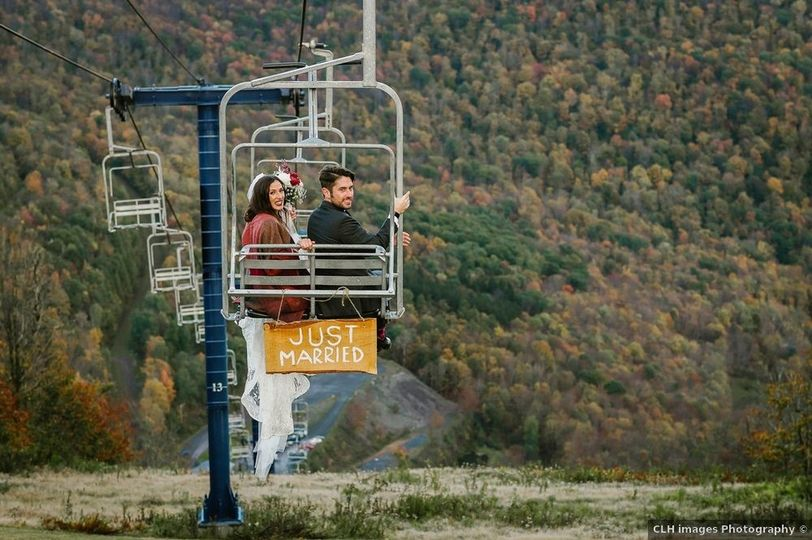 Chairlift Ride to Ceremony
