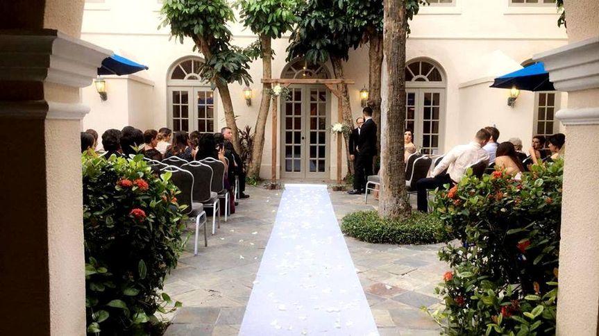 Spanish Room Patio Ceremony