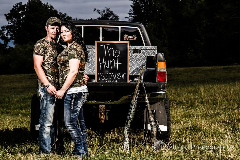 The Hunt is Over! Country engagement session in Tenino, WA at Riverbend Ranch