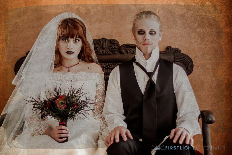 Zombie Bride & Groom in Bellevue, WA.