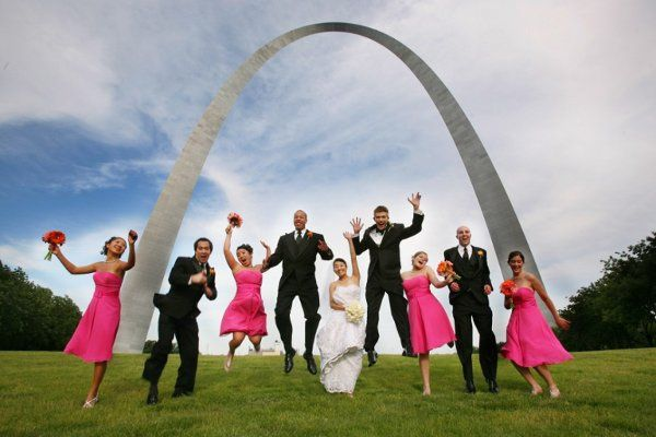 Wedding Party at the St. Louis Arch