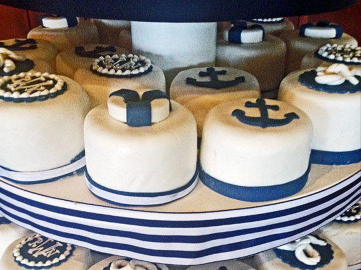 Tmx 1525296565 C4c8eacbe6ccdc4b 1525296564 0b7d36586d445259 1525296582117 30 25nautical Mini C Rochester wedding cake