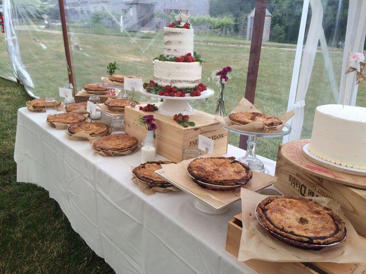 Tmx 1525296582 D3e6463ded97818b 1525296579 Dfd4878aec0c4785 1525296598273 38 Pie Naked Cake De Rochester wedding cake
