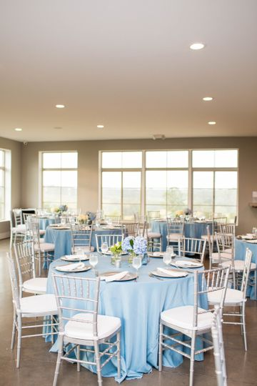 Blue table setup
