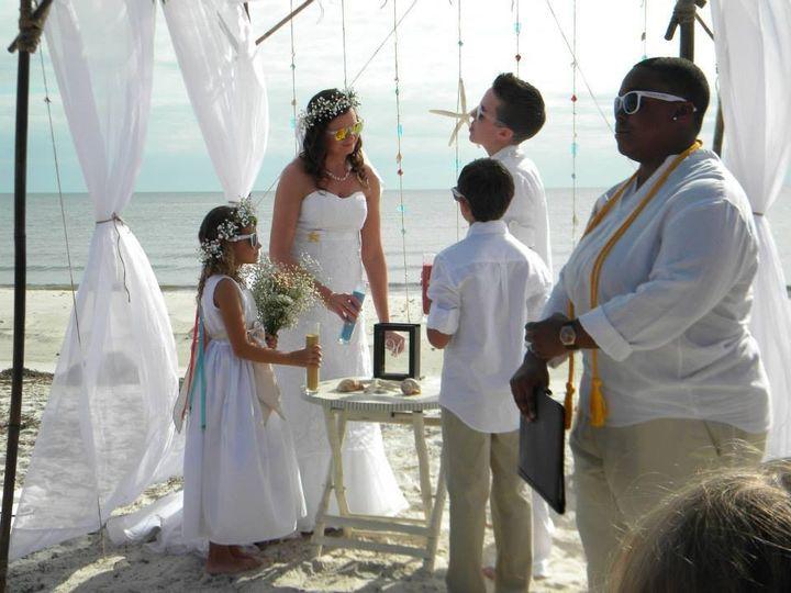 Beachside vows