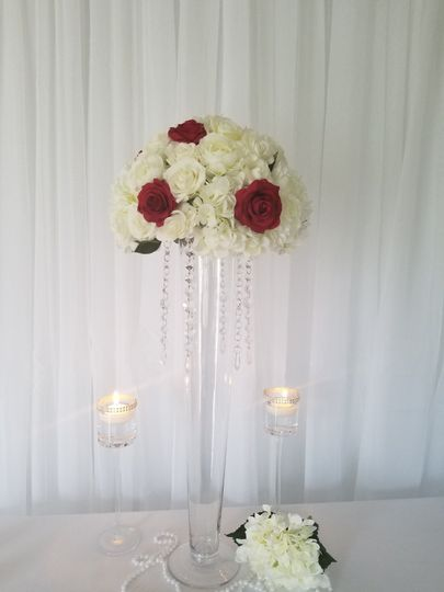 Vase and candles