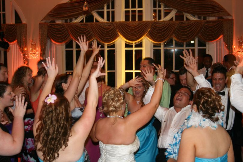 Guests putting their hands up