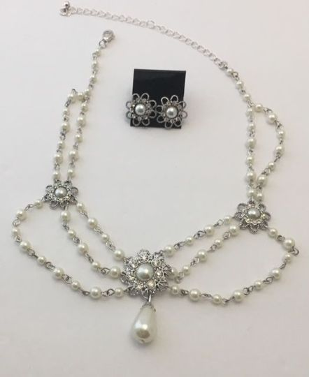 Bride Necklace Set (includes choker necklace and earrings) $10.00