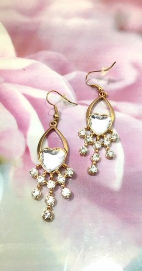 Bride - Bridesmaid Gift Heart Sparkle Earrings $8.00