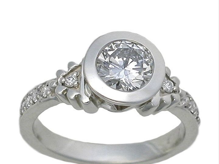Tmx 1283539572858 RG20426rdwhitegolddiamondtopview Philadelphia, PA wedding jewelry