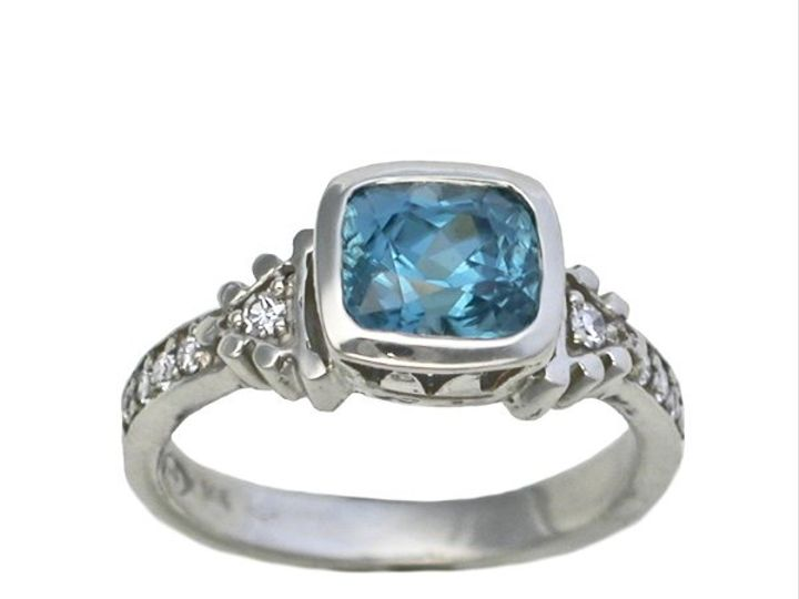 Tmx 1283539573108 RG20426x7cushblzirconwhitegold Philadelphia, PA wedding jewelry