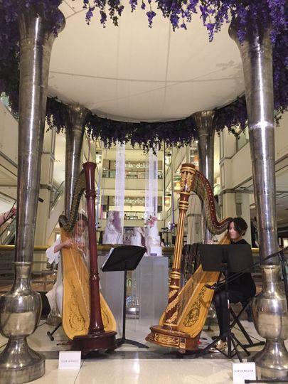 Duo harpists