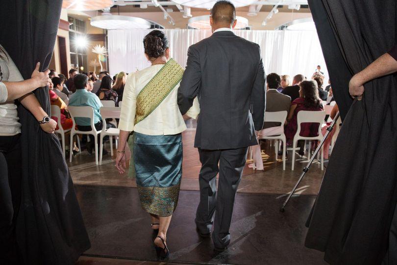 Entering the wedding