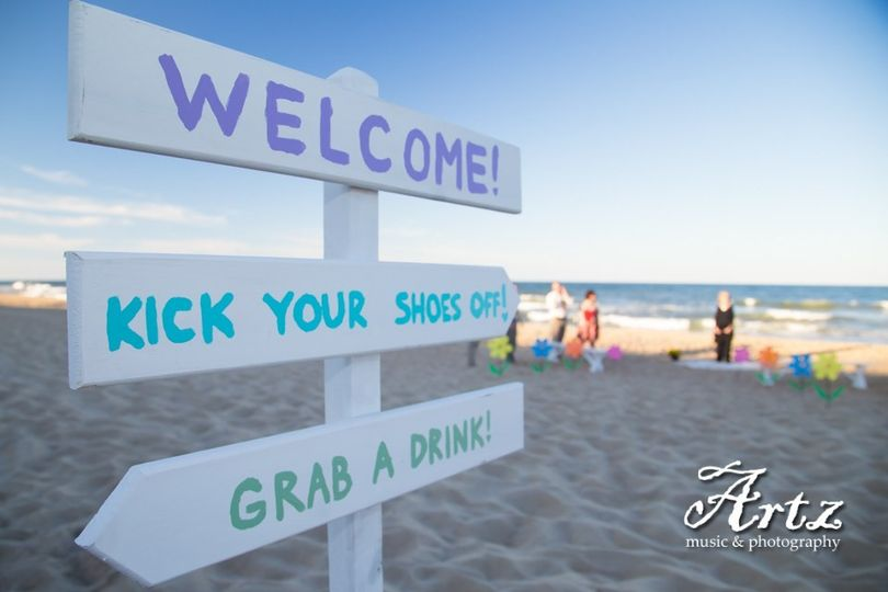 Beach sign boards
