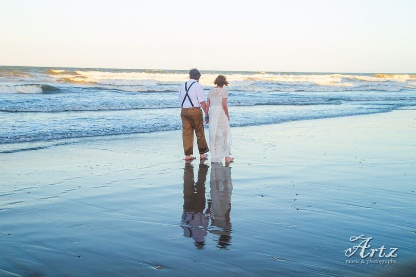 Outer Banks, North Carolina destination beach weddings by Artz Music & Photography include...