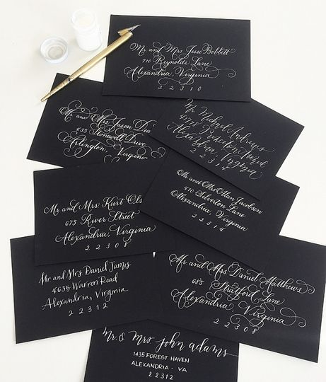 Laura Hooper Calligraphy Invitations Washington Dc
