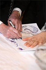 Ketubah Signing by Bride , Groom and Jewish Witnesses