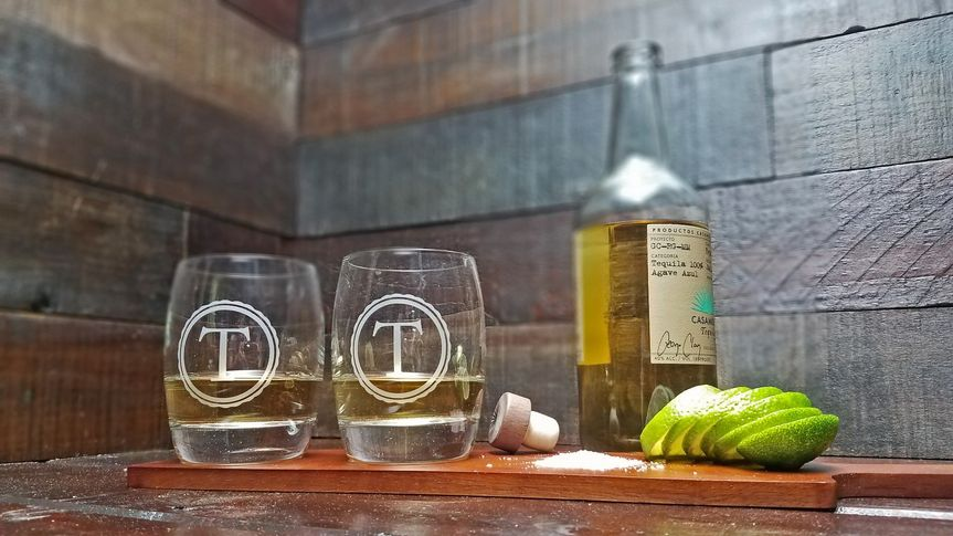 Monogrammed Tequila Glasses