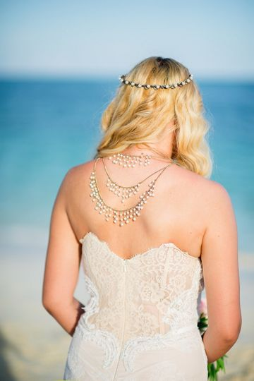 back jewellery beach bride