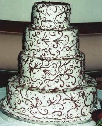 Tmx 1371484115466 Burgundy Scrolls Hebron wedding cake