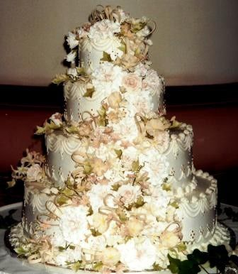 Tmx 1371484123212 Sugar Creme Color Flowers Hebron wedding cake
