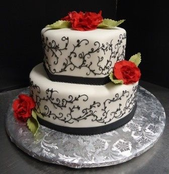 Tmx 1371484356560 Black Scrolls Hebron wedding cake