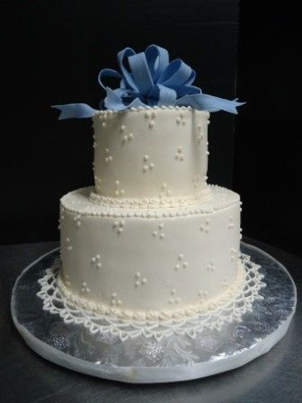 Tmx 1371484374385 Cornflower Blue Bow Hebron wedding cake