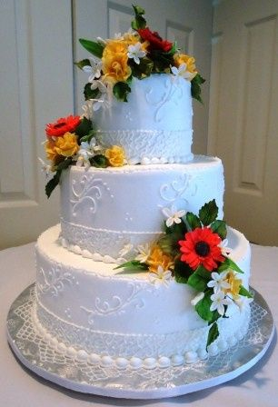 Tmx 1371484460541 Gerber Daisies Hebron wedding cake