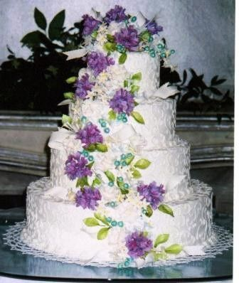 Tmx 1371484472661 Lavender Hydrangea Clusters Hebron wedding cake