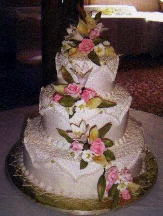 Tmx 1371484474064 Lilies Roses And Lace Hebron wedding cake
