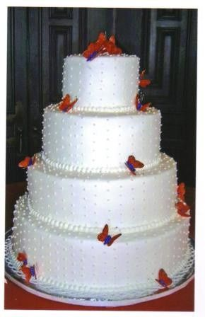Tmx 1371484553903 Sugar Butterflies Hebron wedding cake