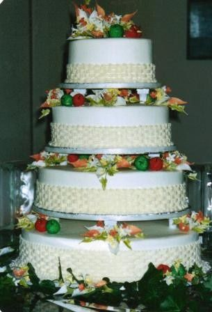 Tmx 1371484555508 Sugar Fruit And Flowers Hebron wedding cake
