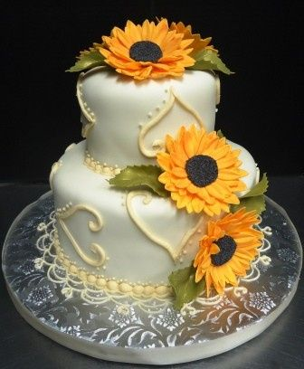 Tmx 1383059252731 Sunflower Hebron wedding cake