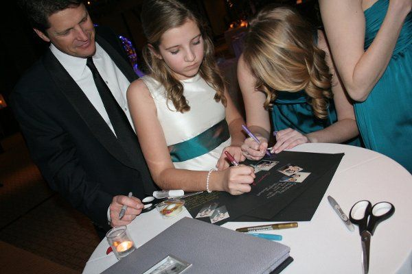 Guests signing